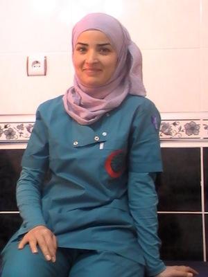 Медсестра больницы для сирийских беженцев в городе Урфа (Турция)