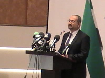 Национальная коалиция сирийских революционных и оппозиционных сил (НКСРОС) избрала в Стамбуле нового главу оппозиционного кабинета. Речь Ахмад Томе, после избрания (14.09.2013).
