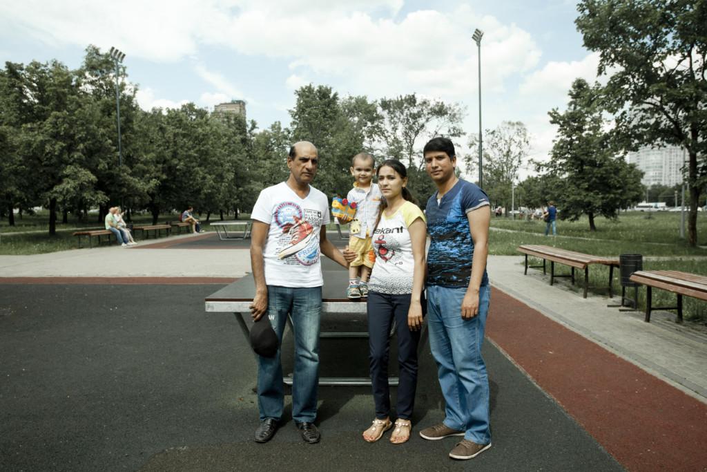 семья беженцев