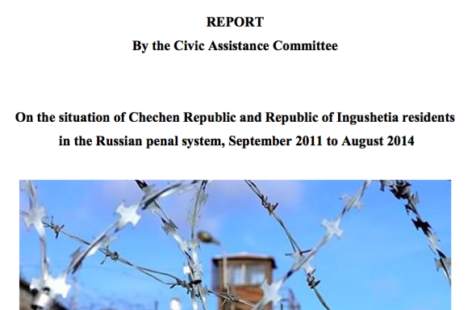 On the Situation of Chechen Republic and Republic of Ingushetia Residents in the Russian Penal System